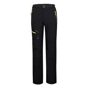 Mens Windproof Water Resistant Leisure Sport Hiking Climbing Softshell Outdoor Pants Men Warm Trekking Camping Ski Trousers