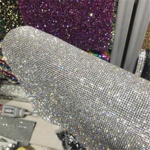 40*24cm Adhesive Mesh Drills Full Diamond Decorative Drill Car Drill Sticker DIY Mobile Phone Jewelry Accessories Free Shipping A02