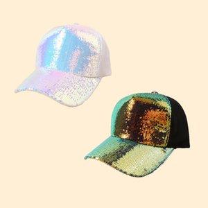 Женщины Мужчина Спорт на открытом воздухе шляпы Летнего Paillette ВС Hat Shade Snapback Caps Sequin Mesh бейсболку
