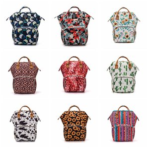 Sunflower Diaper Bag Mummy Backpack Nappies Backpack Mother Maternity Backpacks Outdoor Waterproof Nappy Bag Large Capacity DHF703