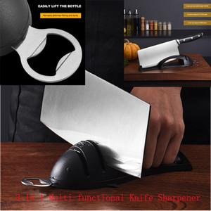 3 В 1 Многофункциональный нож точилка Держатель пива Openner Алмазные стали вольфрама бутылки Openner инструменты кухни