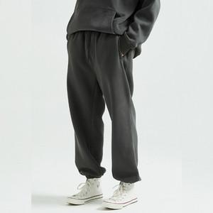 Hiver Coupe décontractée Fleece Sweatpants Hip Hop taille élastique Jogger Pantalon Trois poches