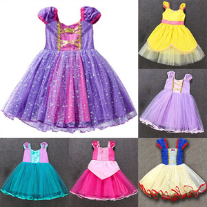 Halloween Christmas Princess Costume Dress For Baby Girl Dress Up Cosplay Party Lace Dress Xmas Rapunzel Fancy Clothing 7 Styles WX9-1538