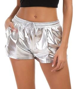 Colores pantalones cortos de diseñador con cordón metálicos de los pantalones cortos Vestimenta manera de las mujeres calientes