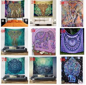 150 * 130 cm Tapisserie mural suspendu Indien Mandala Bohemian Tapisserie Hippie Tapisserie Polyester Polyester Decor Dorm Dortoir KKA4499