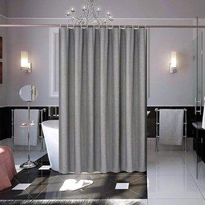 UFRIDAY Europa Linen-Like Fabric Shower Curtain Grey Thicken cortina impermeável Bath com Weighted Hem decoração do banheiro