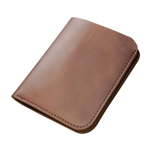2020 Fashion genuine leather men wallet Leisure women wallet leather purse for men card holders wallet free C62293