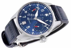Mens Super ZF Factory Best Edition Big Pilot Boutique London Edition Asia clone 52010 Blue Dial Reserve Indicatore Uomo Sport Orologio sportivo