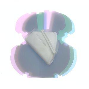박스 페이스 마스크 키퍼 플라스틱 PP 시트 홀더 입 접는 케이스 폴더 가방 보호 주최자 안티 먼지 휴대용 5 색 DHC1557 클립