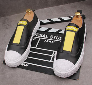 slip on men's flats loafers young Hip hop rock web celebrity shoes casual shoes zapatillas hombre