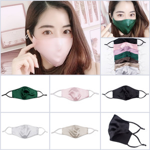 100pcs Fast Ship Women's Ultra-thin 19mm Double-layer Silk Mask 100% Mulberry Silk Sunscreen Dustproof Anti-allergic Mask for Lady