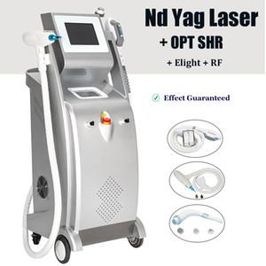 IPL лазера кожи лица омоложение машина многофункциональная IPL Elight NdYAG лазерное удаление татуировки пигмента оборудование для удаления волос IPL