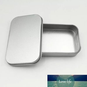 50PCS شعبي تين مربع الخالي الفضة معدن صندوق التخزين حالة المنظم للمال كوين كاندي مفاتيح U سماعات الرأس القرص هدية مربع دي إتش إل