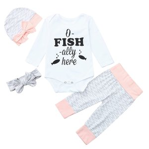 Clearance Excelent NEWEST lovelybaby girls Infant Baby Letter Print Jumpsuit Romper+Pants+Headband+Hat Clothes Outfit Z0214