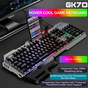 Per Desktop Gaming Keyboard mouse Combo rimovibile resto della mano Arcobaleno retroilluminato 104 tasti MUTE Plug And Play Computer Accessories