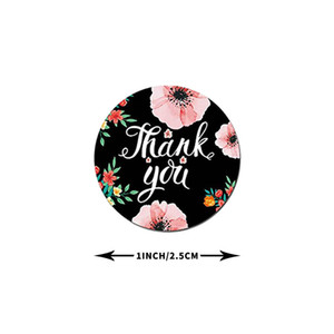 500pcs Round Floral Thank You Stickers 1inch for Wedding Favors and Party Handmade Stickers Envelope Seal Stationery Sticker