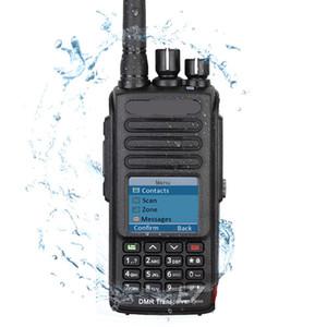 Freeshipping DMR Digital-Walkie Talkie Optional GPS IP67 Wasserdicht Staubdichtes-Radio mit Mikrofon Programmierkabel und Hörmuschel