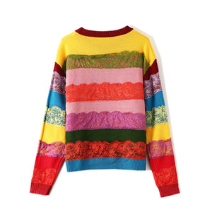 1128 Free Shipping 2020 Autumn Brand Same Style Regular Crew N eck Sweater Red Women Clothes