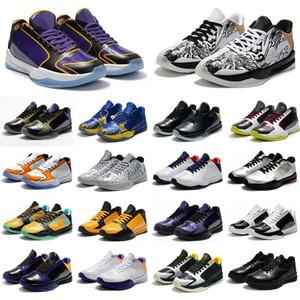 Sıcak Klasikler Erkek Fasulye Palyaço Mamba V 5 5 S Mamba Basketbol Ayakkabı Yüksek Kalite Eğitmenler Spor Sneakers Ayakkabı Boyutu 40-46