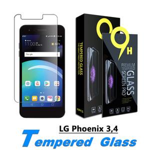 Kareen Screen Protector para LG Phoenix 4, LG Phoenix 3, dinastia de tributo LG, LG X Charge filme de vidro temperado 0.33mm com caixa de papel