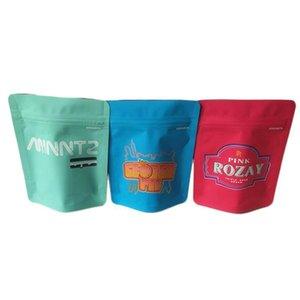 Borse Borse rosa Mylar Etichette Adesivi Con impermeabile agli odori 35g Runtz Confezioni e di Heatseal richiudibile Autenticità 100 Holographic Ziplock WkvCP