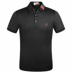 2020 Großhandel Luxusdesigner Cotton Polo Shirts Männer High Street Fashion Little Bee Drucken polos Mens desginer Marke Polo-T-Shirt