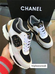 NUEVOS casuales zapatillas de deporte de las mujeres diseñador de los hombres los zapatos del cuero genuino color mezclado caja original el envío libre