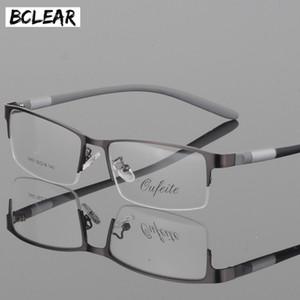 BCLEAR очки Титан очки кадр Мужчины очки Компьютер Optical Предписание Reading Clear Eye Lens мужской Spectacle люнет T200812
