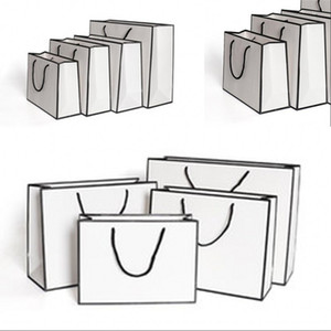Çanta Kumaş Depolama Çanta Moda Kalınlaştırıcı Alışveriş Reklam Özel 1 86gr c2 Packaging Beyaz Mevcut Kağıt Çanta Kraft Kartı