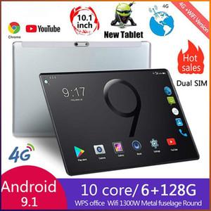 새로운 10 인치 태블릿 PC 옥타 코어 6기가바이트 RAM 128기가바이트 ROM 4G LTE GPS 전화 통화 2.5D 강화 유리 구글 태블릿 pc 8.0 MP 카메라를 재생