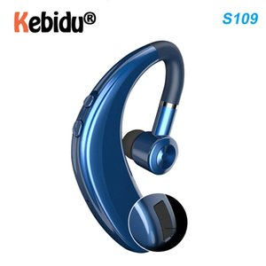 Kebidumei Bluetooth 5.0 Wireless Earphones Stereo Ear Hook Sports Headphones Business Driving Handsfree With Microphone Headset