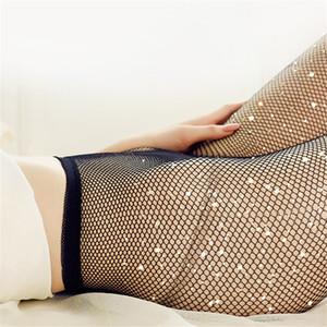 Mädchen Sommer Fischnetz Diamant Strumpfhosen Mode Glänzende Netz Strumpfhosen Strass Mesh Nylon Strümpfe Strumpfhosen SOX 10 Farben