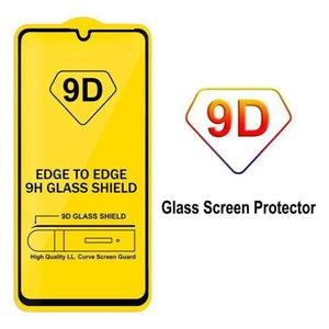 cgjxs 9d Ausgeglichenes Glas für Iphone 11 Pro Xs Max X Xr 7 8 Samsung S10 A50 M20 9h Full Cover Kleber-Schirm-Schutz