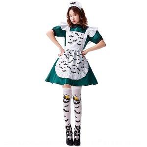 abito gonna verde servo malvagio pipistrello cosplay magica costume Holy Day Holy Sun magia malvagio servitore vestito genitore-bambino vestito 3Kkto