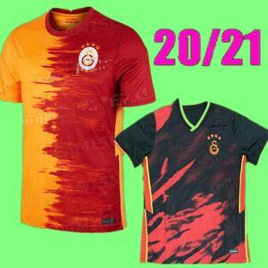 20 21 Galatasaray Falcao Futebol Jerseys 2020 2021 Gomis Linnes Cigerci Belhanda Fernando FeGhouli Donk Custom Home Laranja Camisas