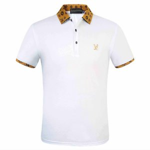 2020Italian nouvelle mode chemise à manches courtes hommes Polo design casual Medusa Polo luxe hommes broderie florale chemise aimee2015 Polos