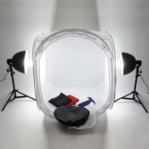 Quality Mini Folding Photo Studio Soft Box 40 50 60 80cm Shooting Light Tent Softbox Photo 4 pcs Backdrops with Protable Bag