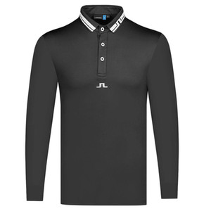 Neue Männer Langarm Golf Shirt Frühling und Herbst Neueste Sports Golf Kleidung Langarm-Golf-T-Shirt Freies Verschiffen
