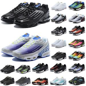 En Kırmızı Örümcek TN Artı 3 Tiges Siyah Lazer Mavi Tuned TN 3 III OG Ultra Bayan Erkek Koşu Ayakkabıları Eğitmenler Yastık Sneakers