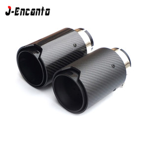 1PC universal Racing Silenciador logotipo de la M Carbon Fiber Puntas de escape de escape M Performance Pipe para BMW E90 60 mm de entrada / 63mm