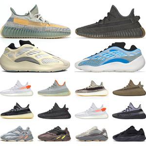 Adidas 700 de los zapatos corrientes de los hombres de la nube blanca Mujeres Negro reflexivo sintetizador estático de moda para hombre de la zapatilla de deporte