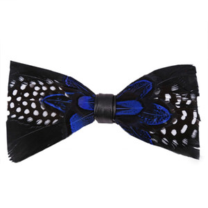New 2020 Fashion Feather Bow Tie Pocket Married Bow Ties Male Feather Neck Ties For Men Women Unisex Bowties Dropshipping
