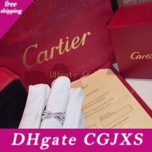 Nuovo Deluxe Lady '; S dell'anello di diamante anelli di fidanzamento per le donne 925 Bague Etincelle B4095800 Ringsladies'; regali di compleanno Festi