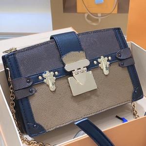 Heißer Verkaufs-Messenger Bag Umhängetasche Frauen Kette Flap Bag Fashion Old Blume Patchwork Farbe Metallschnalle Brief Zipper freies Verschiffen