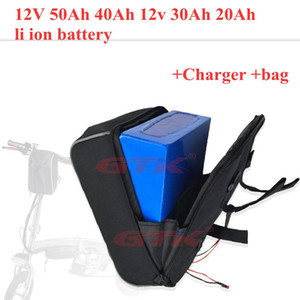 12V 20Ah lithium ion 50Ah 40Ah 12v 30Ah li battery for golf trolly cart scooter Portable power supply + 3A charger+ bag