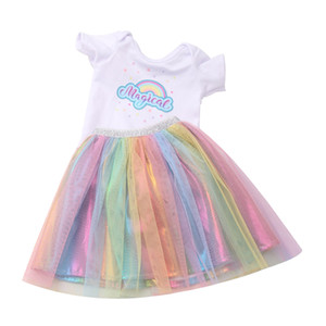 Amerikan 18 İnç Doll Giyim ve Aksesuar Kız Bebek Giyim Elbise