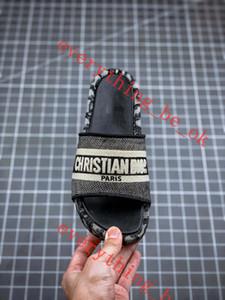 DIOR sandals Été Wedge talon haut plateforme Marca Chaussons épais lettres Bas Broder Web Sandales Celebrity étoiles Pantoufles Désinvoltes plage Chaussures