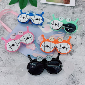 Çocuk karikatür sokak almak gözlük 32010 silika jel polarizasyon hayvan kafası kapaklı sevimli sunglasses