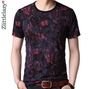 2020 Short Sleeve T Shirt Men Fitness Clothing Tshirt Summer Butterfly Mens Top Streetwear T-shirt Tops Tee Shirts Clothes 3098 0921
