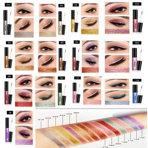 FREE SHIPPING!New arrival fashion top liquid eyeliner 6ml high quality makeup 13 colors magic glitter eye liner OEM customized logo
